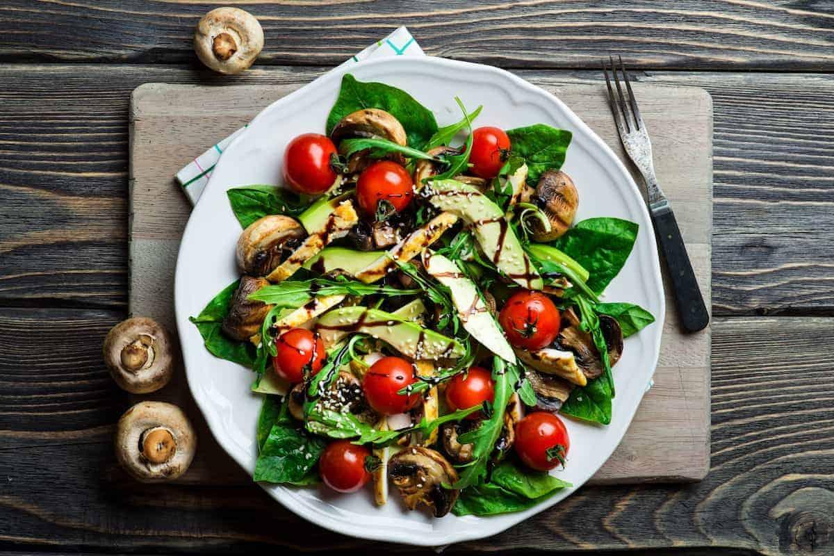 Salat mit Spinat