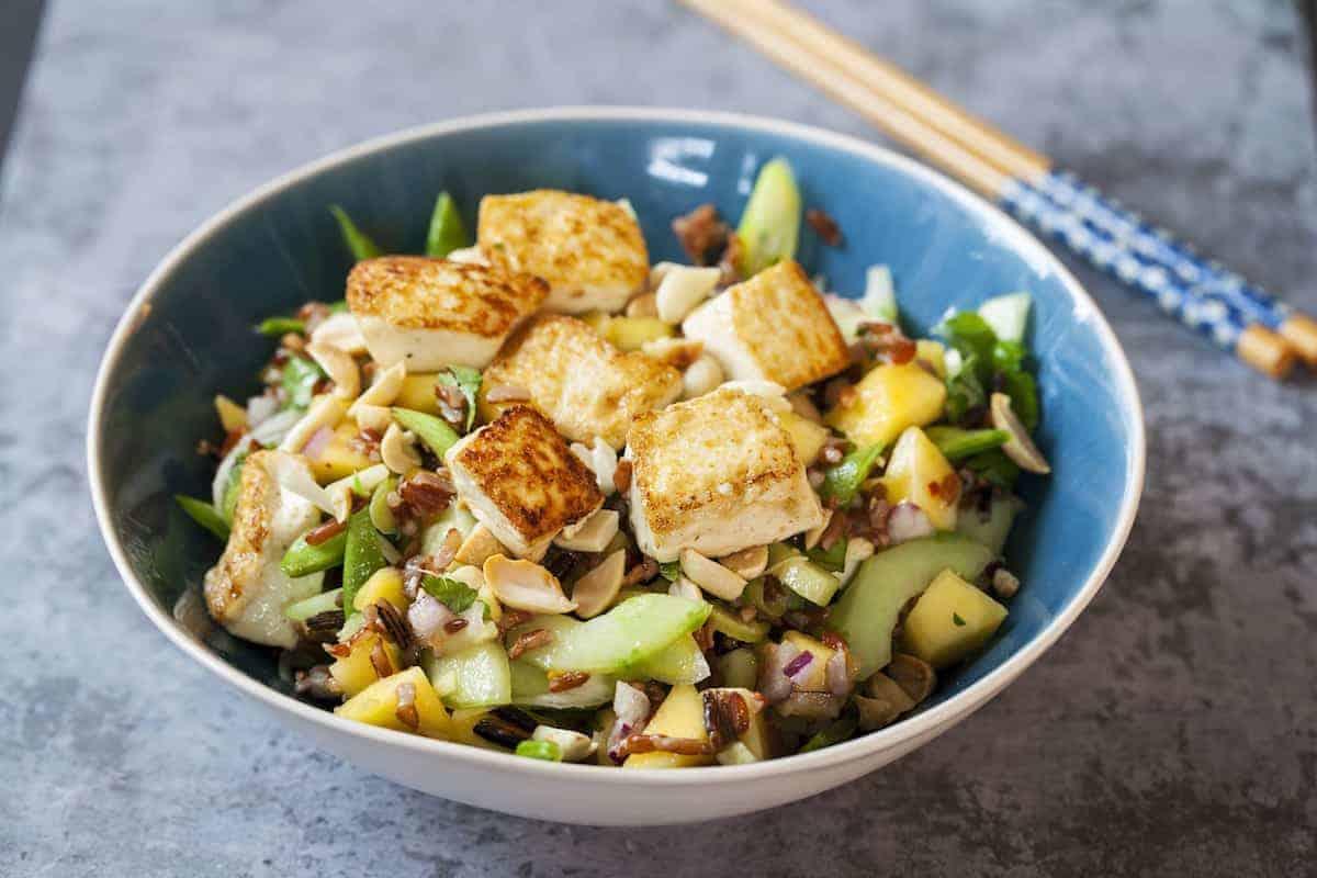 Salat mit Reis
