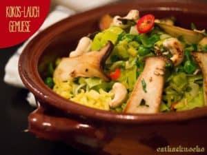 Kokos-Lauch-Gemüsepfanne
