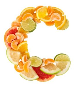Früchte in Form eines C's