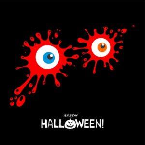 Blutige Augen