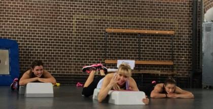 Carolin Hobler, Trainerin bei Gymondo, beim Workout