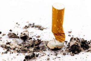 Ausgedrückter Zigarettenstummel
