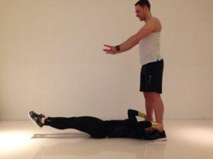Paar Übung Bauch Beine