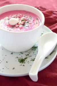 Suppe mit RAdieschen, ein Traum in Rosa