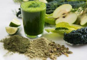 Grüner Smoothie basisch