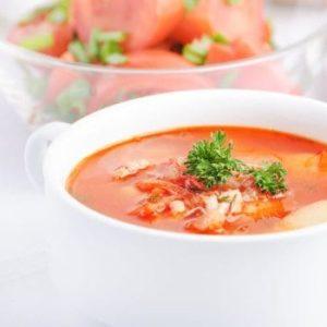 Tomaten sind auch getrocknet in der Suppe willkommen!