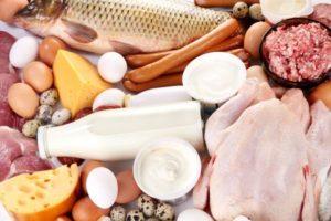 Fisch, Eier, Milch, Fleisch