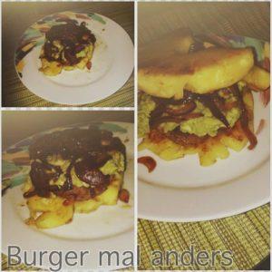 Burger aus Ananasscheiben