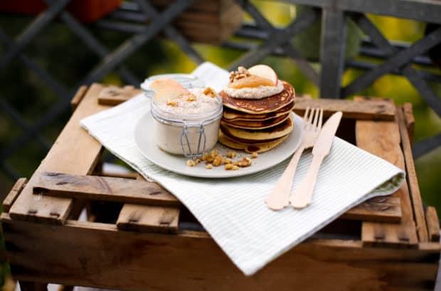 Saftige Apfel-Ricotta Pancakes