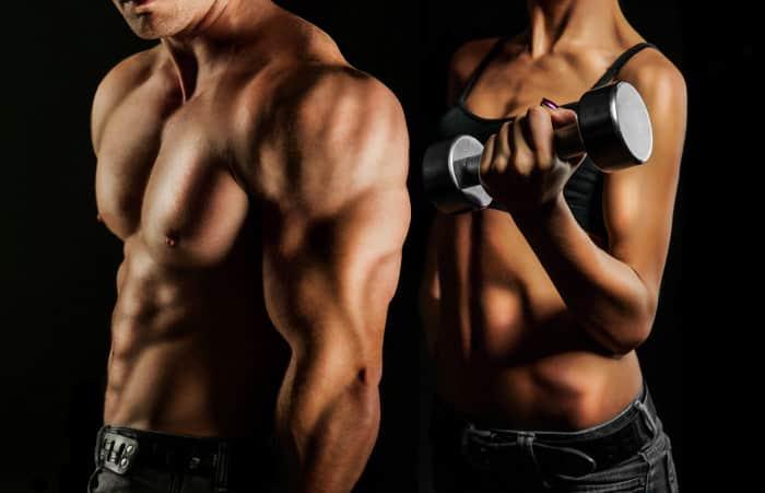 Definierte Muskeln am Oberkörper Mann Frau | GYMONDO Magazin