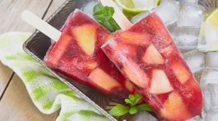 Erdbeer Pfirsich Fruchteis