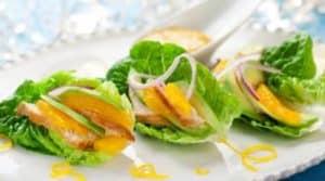 Gefüllte Salatherzen