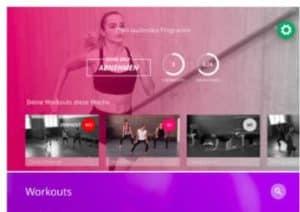 Screenshot der Apple TV App von GYMONDO
