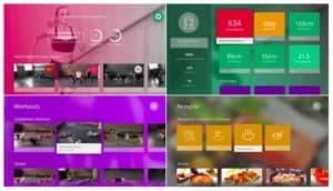 Screenshot von der GYMONDO Apple TV App