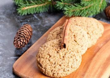 Haferflocken Kekse zu Weihnachten