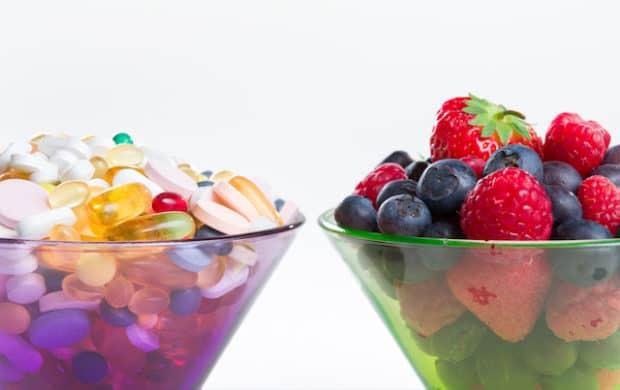 Nahrungsergänzingsmittel und Obst