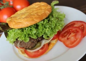 No Carb Burger Tomate Rind