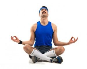 Mann Schneidersitz Yoga