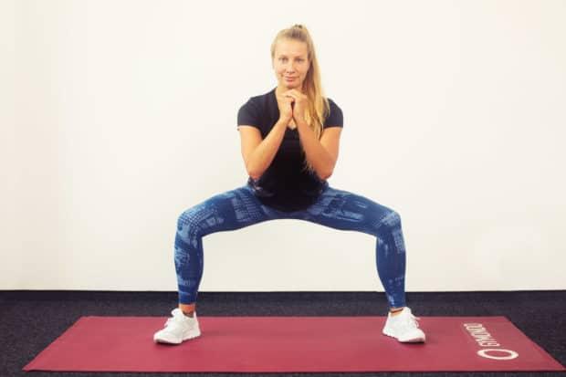 Sumo Squats für schlanke Beininnenseiten