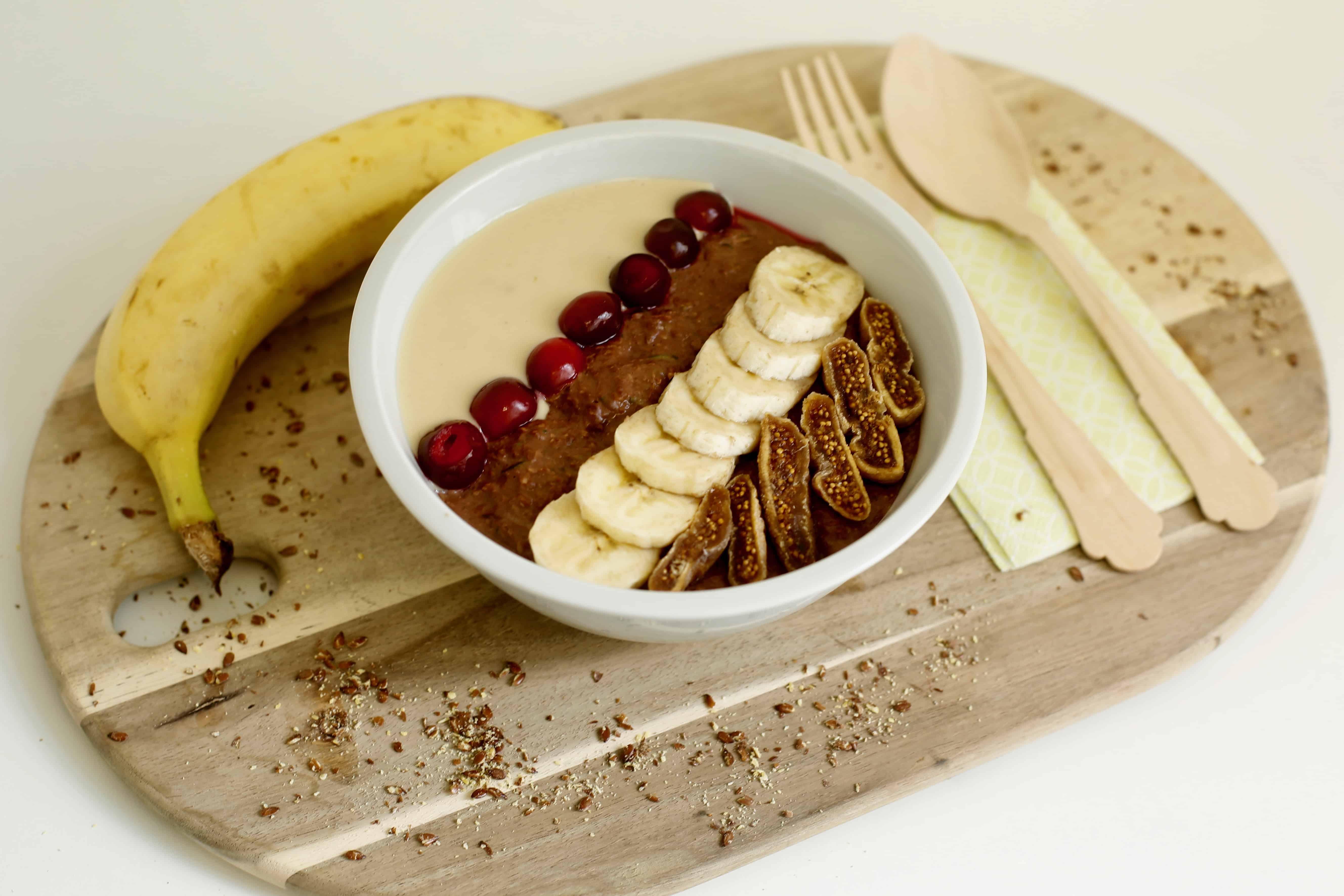 Schokoladige Kakao-Bananen-Zoats