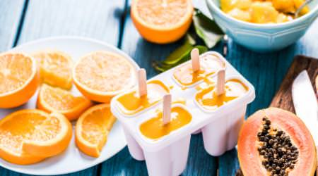 Papaya Orangen Eis
