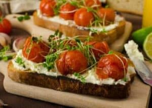Ricotta Tomaten Brot