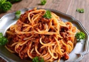 gesunde Spaghetti Bolognese