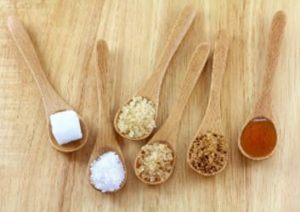 verschiedene Zucker Arten