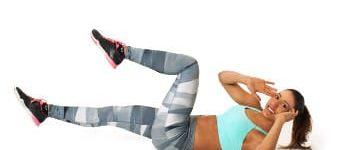 Fitness Übungen für die Bauchmuskeln.