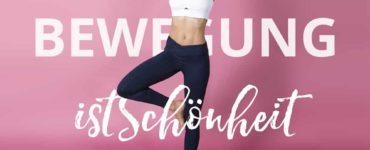 Bewegung ist Schönheit - sportliche Frau vor pinkem Hintergrund