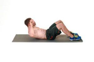 Fitness Übung Crunches Ausführung