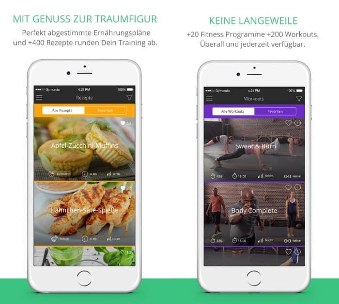 gymondo app screenshot