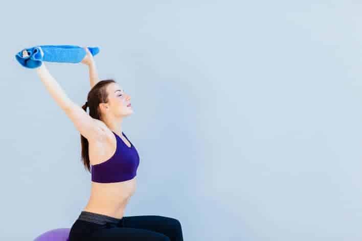 handtuch als fitnessband