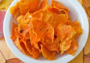 hokkaido kürbis chips zu halloween