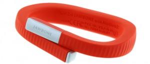 Rotes Fitness Armband der Marke Jawbone
