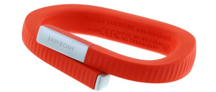 Rotes Fitness Armband der Marke Jawbone