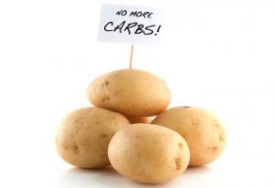 4 Kartoffeln mit klarer Beschilderung: No more Carbs!