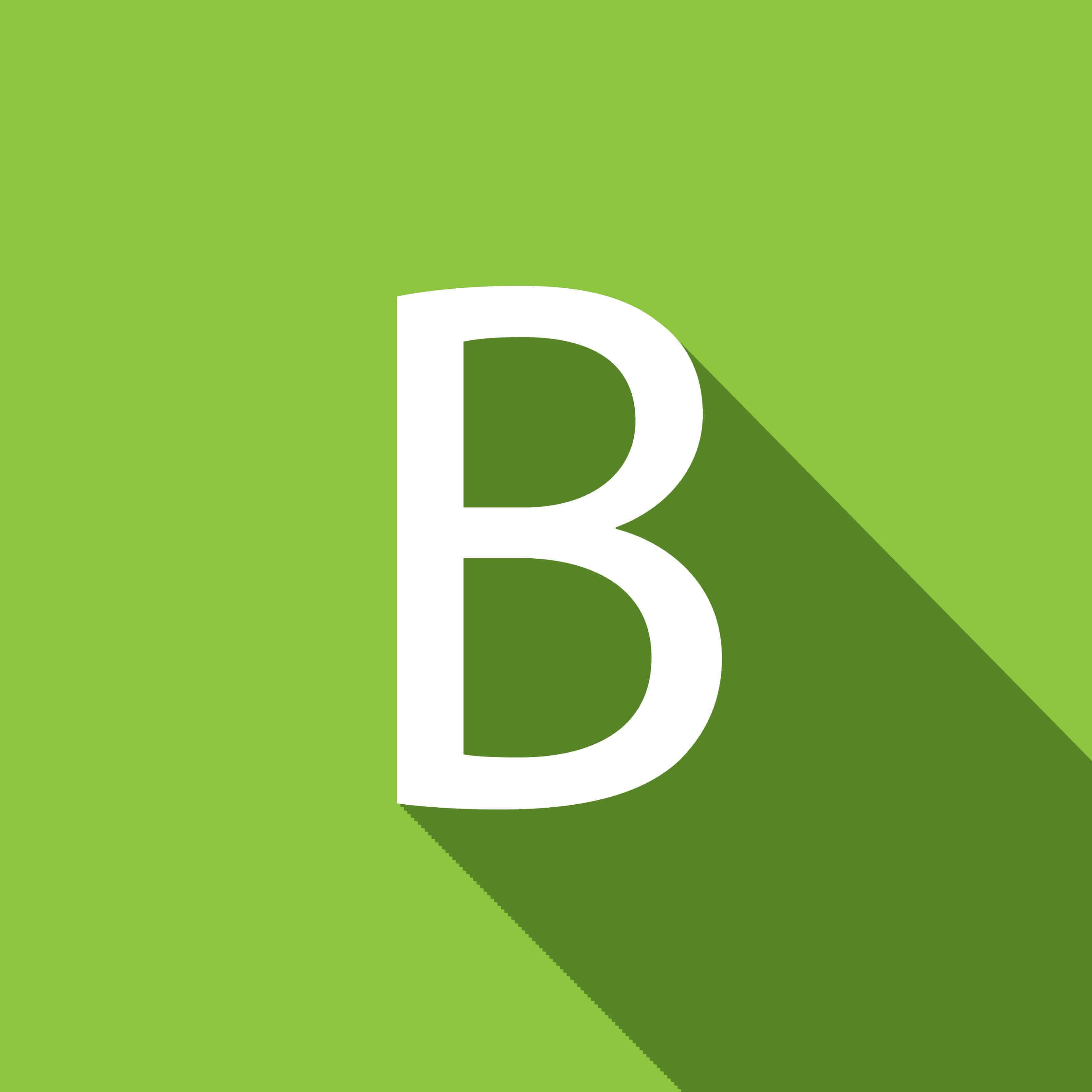 Buchstabe B in weiß