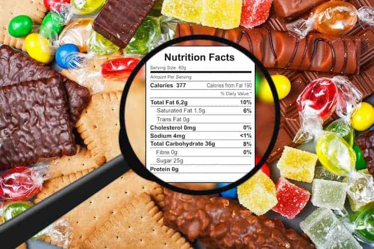 Kalorienangabe auf Lebensmitteln