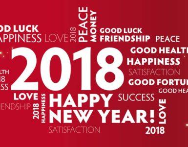 Übersichts Grafik mit guten Vorsätzen für 2018