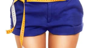 Frau mit Thigh Gap