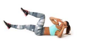 Bauchmuskel Übungen Training mit Twisted Crunches.
